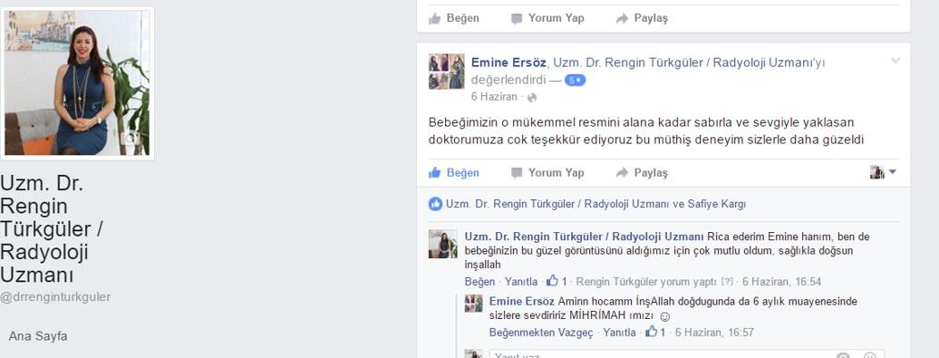 4D Ultrasonu yaptıran gebe hasta Emine Ersöz'e ait yorum