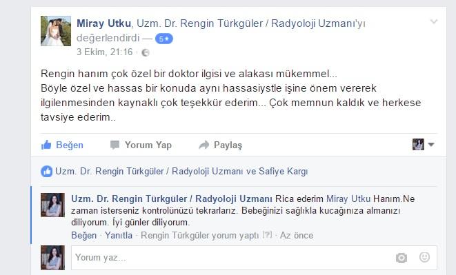Miray Utku isimli hastanın yorumu